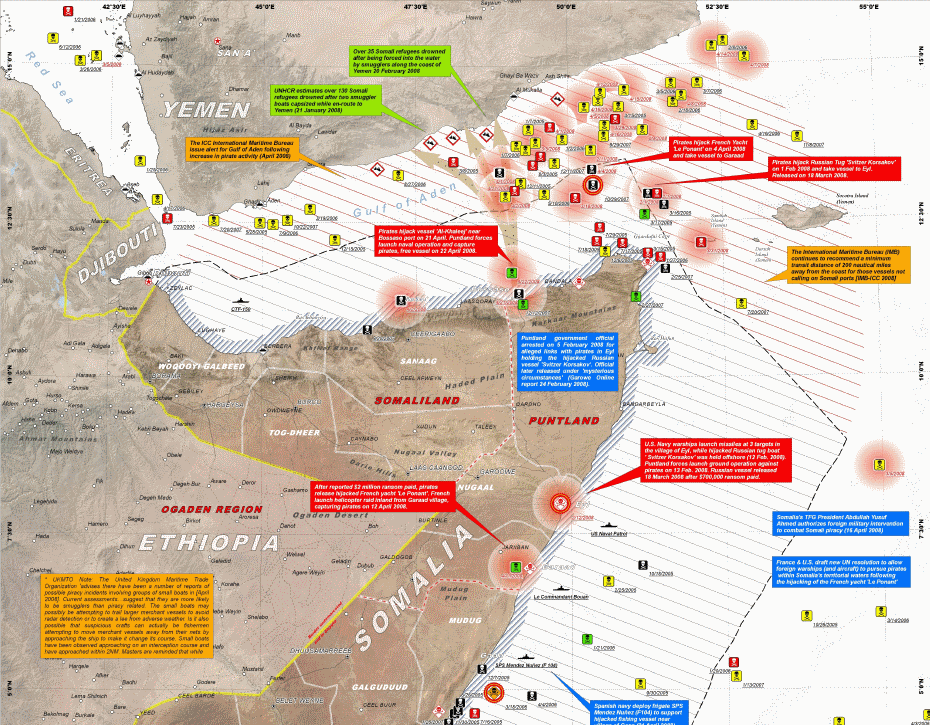 2008 UNOSAT_Somalia Pirate Attack Map